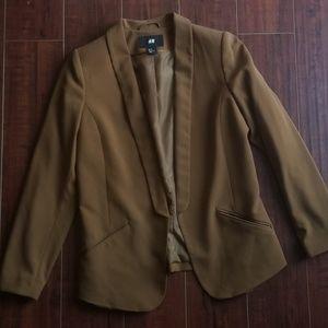 H & M tan/brown blazer